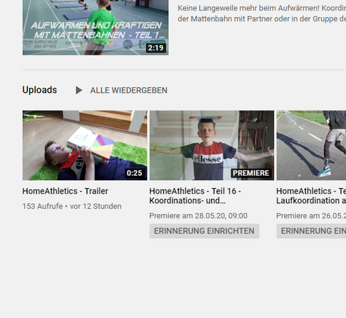 HomeAthletics - Training Zuhause